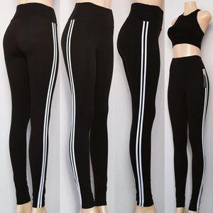 Black Double Stripe High Waist Super Soft Legging